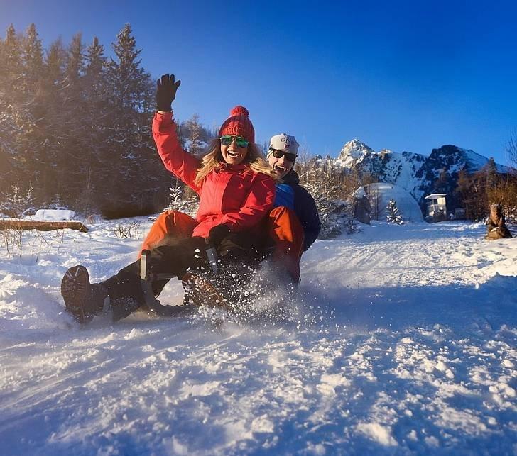 Day & Night sledding at Hrebienok