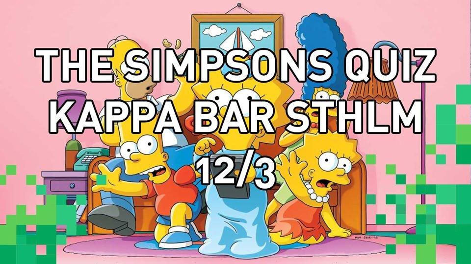 Simpsons Quiz Kappa Bar STHLM