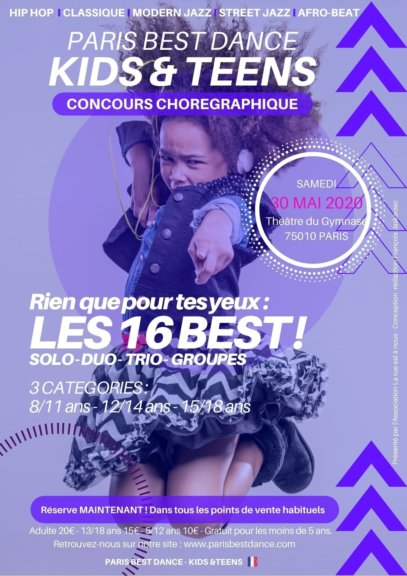 Paris Best Dance - Kids & Teens I Choreographic competition