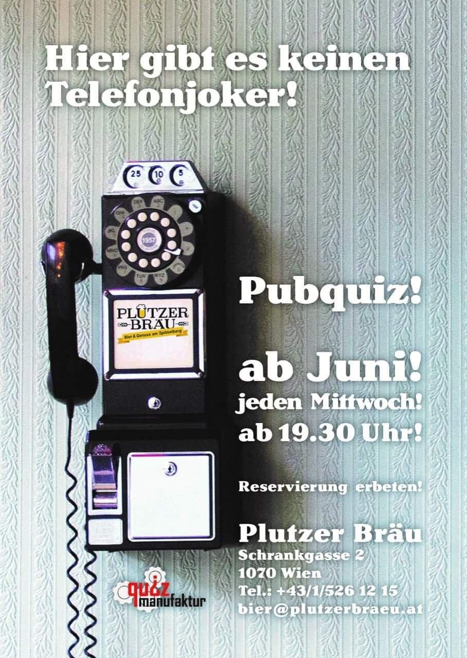 Pub Quiz @ Plutzer Brewery