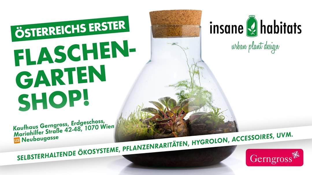 Austria´s 1st Bottle Garden Shop