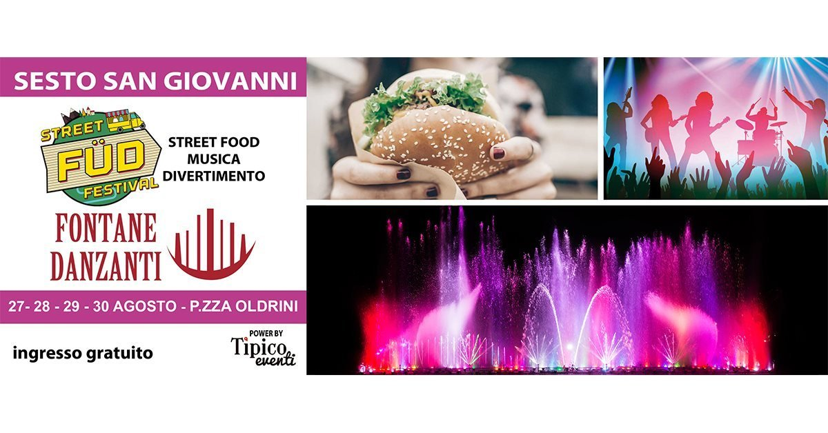 Street food festival and Dancing fountains