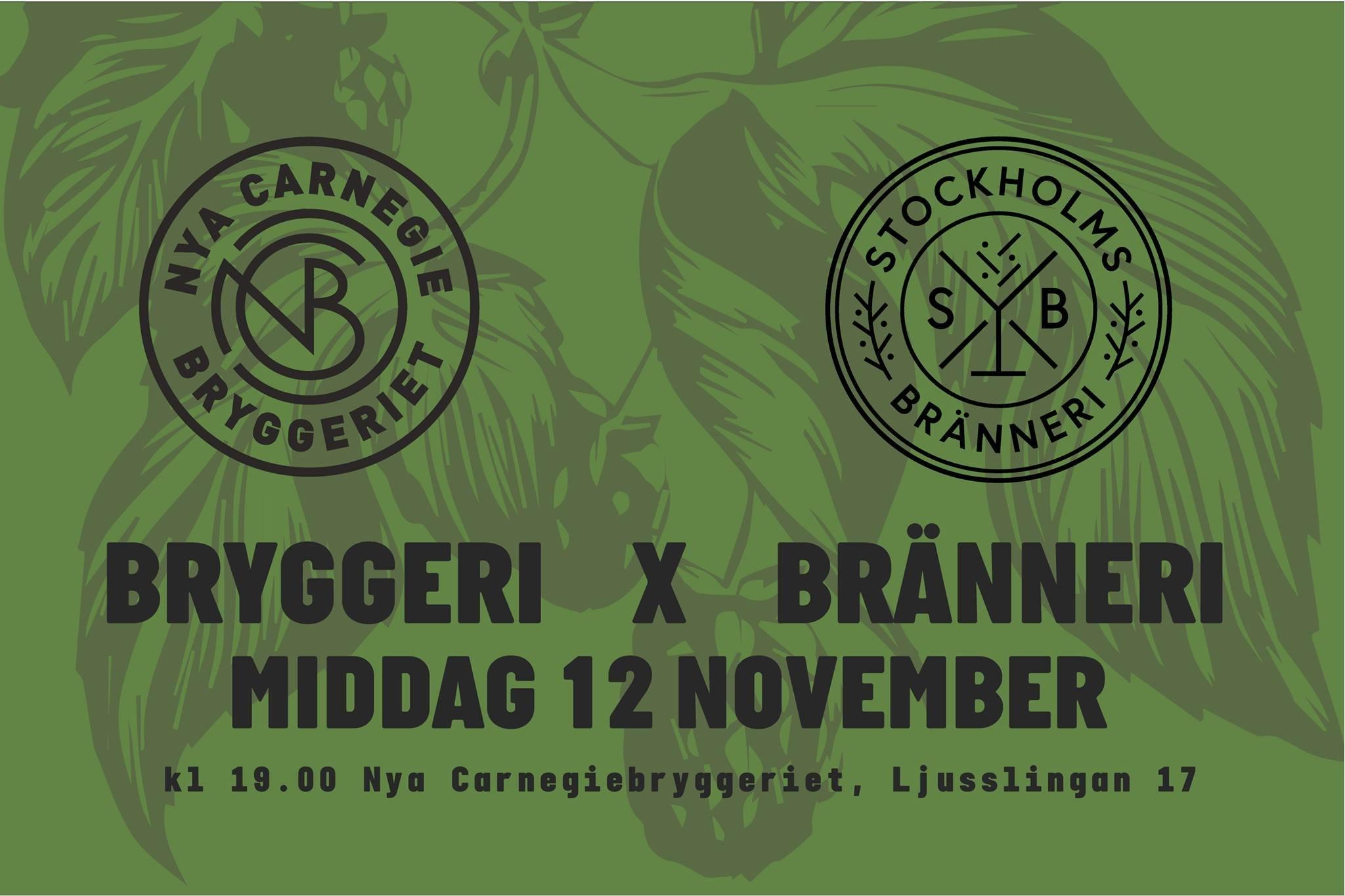 Bryggeri X Bränneri Dinner