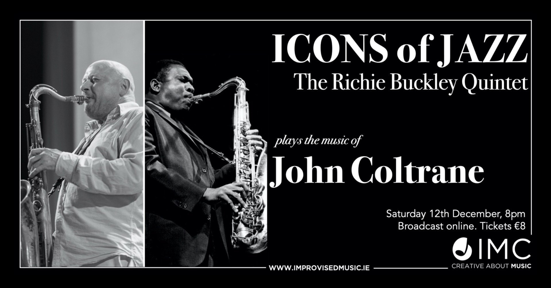 Icons of Jazz: Richie Buckley Quintet plays John Coltrane