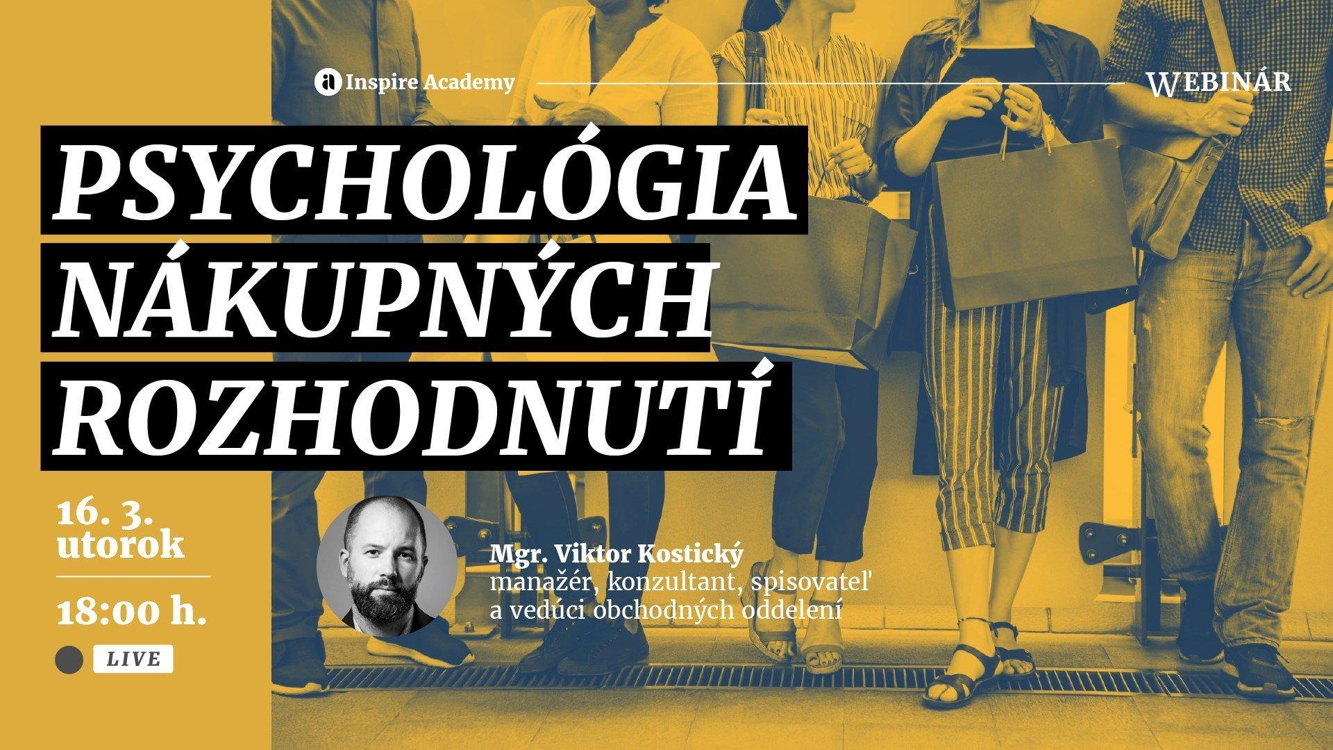 Psychológia nákupných rozhodnutí | Webinár