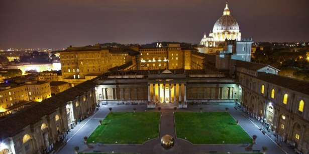 Vatican Museums in the evening