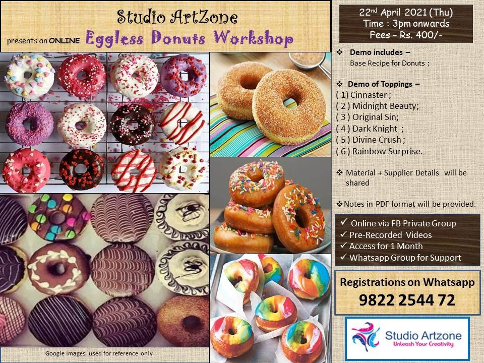 Eggless Donuts Workshop