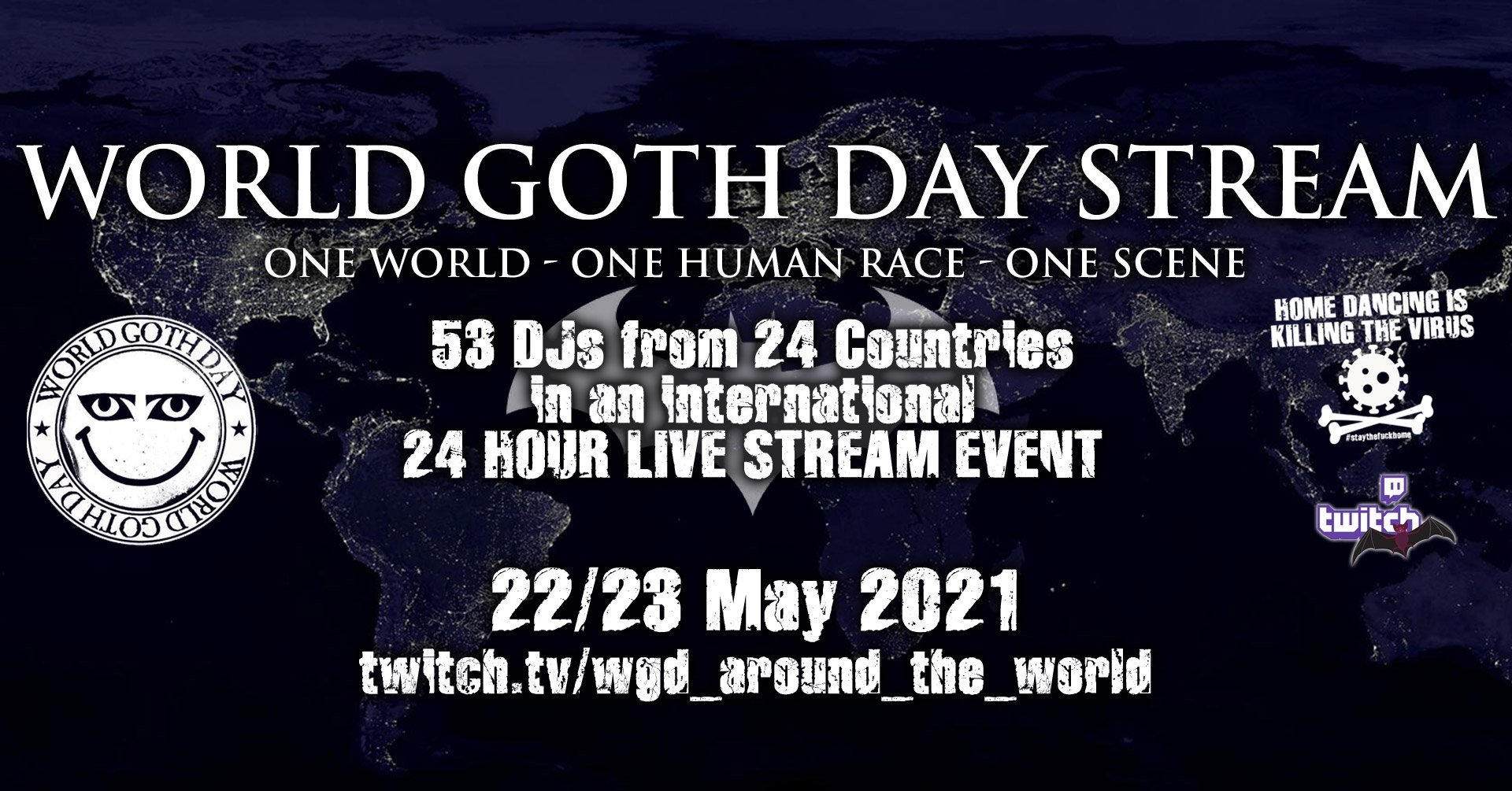 World Goth Day Stream 2021 Prague