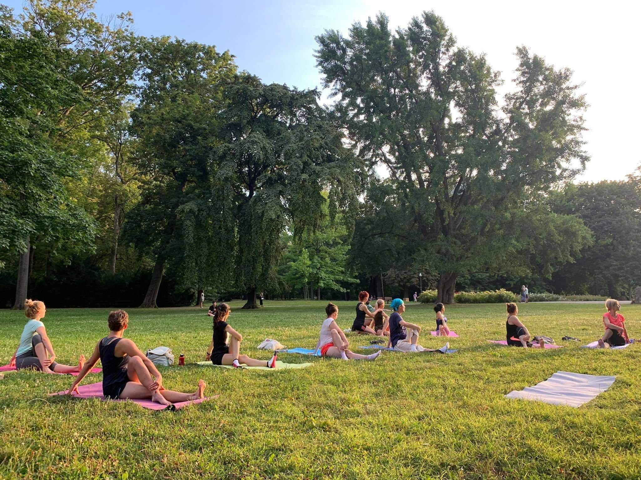 Outdoors Yoga on Kuchajda Lake