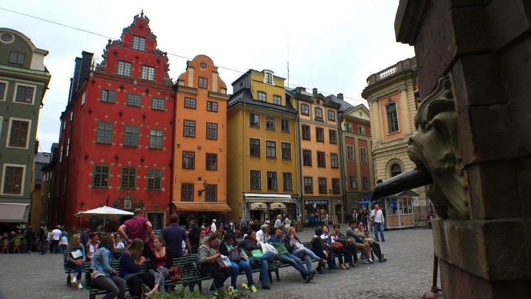 Charming square in Stockholm