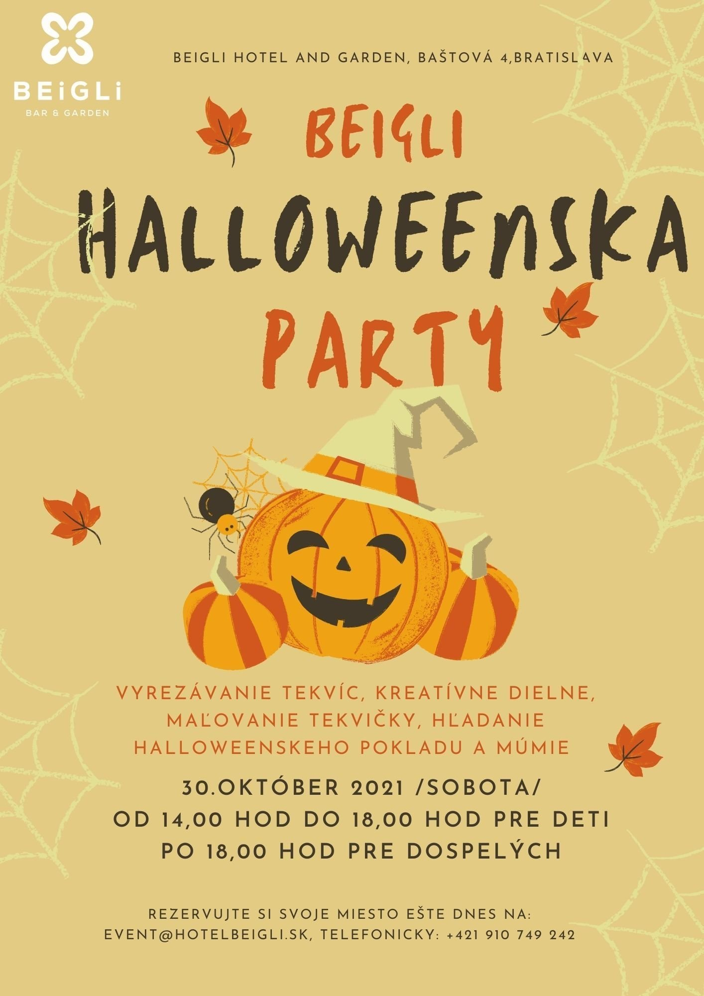 Beigli kids and adult Halloween party !